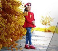 بلوز و شلوار دخترانه آنجلیکا|تولیدی پوشاک بچهگانه گوچانا