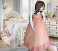 لباس عروس پرنسسی بچه گانه